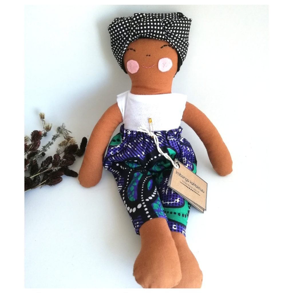 Brown Doll in Purple Amkara pants