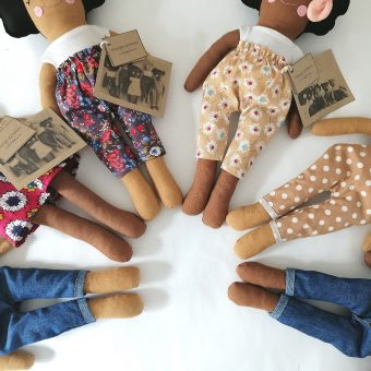 black and brown heirloom dolls